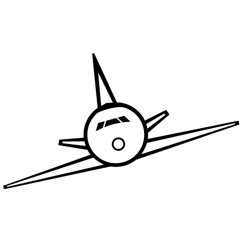 Sticker avion : CDG008