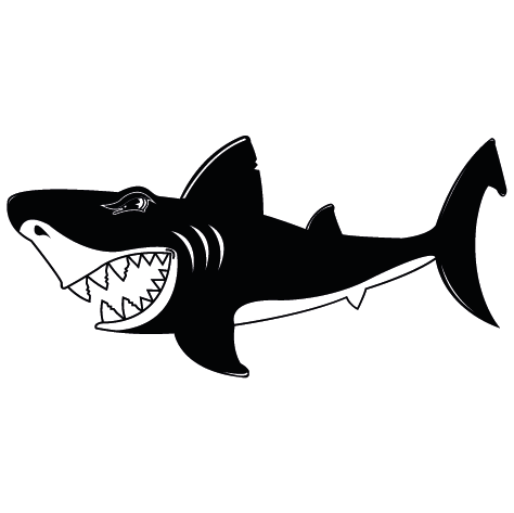 Sticker requin méchant