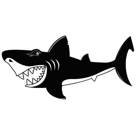 Sticker dessin requin