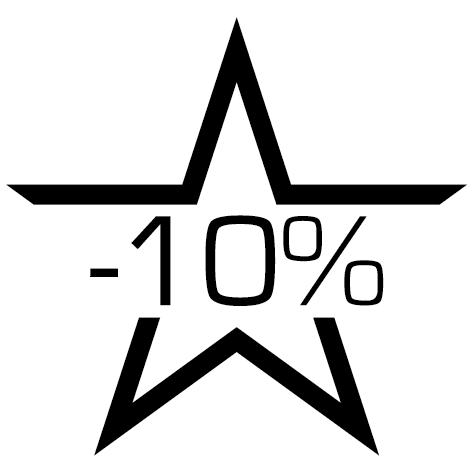 Sticker soldes étoile-10%