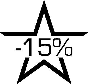 Sticker soldes étoile -15%