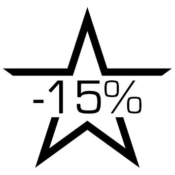 Sticker soldes :15%