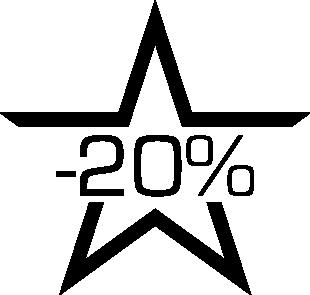 Sticker soldes étoile -20%