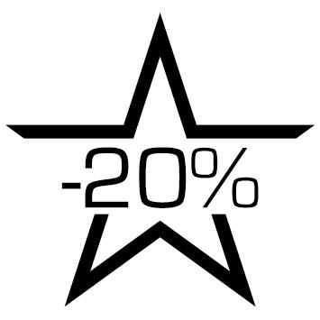 Sticker soldes : 20%