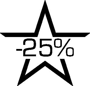 Sticker soldes étoile -25%