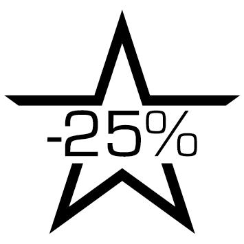 Sticker soldes : 25%