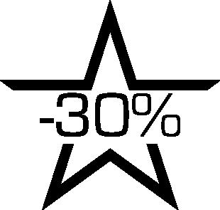 Sticker soldes étoile -30%