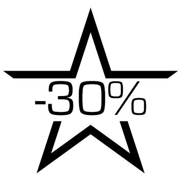 Sticker soldes : 30%