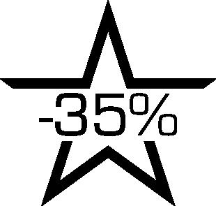 Sticker soldes étoile -35%