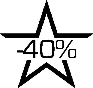 Sticker soldes étoile -40%
