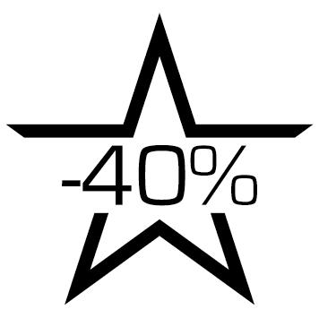 Sticker soldes : 40%