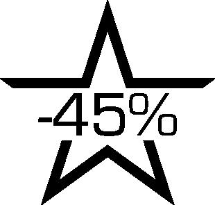 Sticker soldes étoile -45%