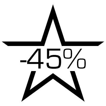 Sticker soldes : 45%