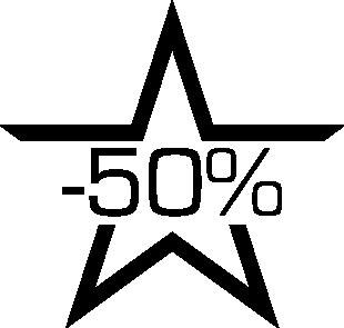 Sticker soldes étoile -50%