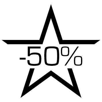 Sticker soldes : 50%