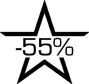 Sticker soldes étoile -55%