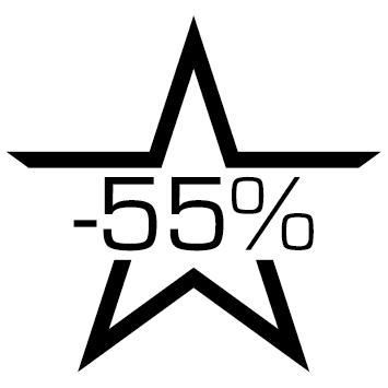 Sticker soldes : 55%