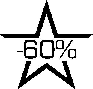 Sticker soldes étoile -60%