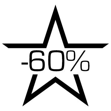 Sticker soldes : 60%