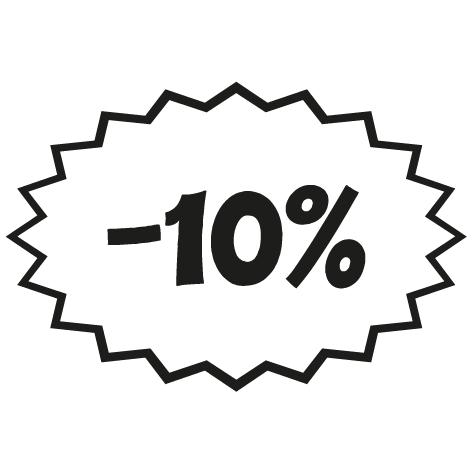 Sticker remise -10%
