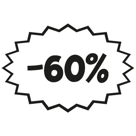 Sticker remise -60