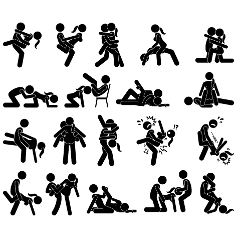 Stickers Positions du Kamasutra