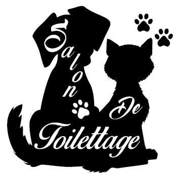 Sticker chien chat toilettage