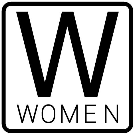 Autocollant Women avec contour carré