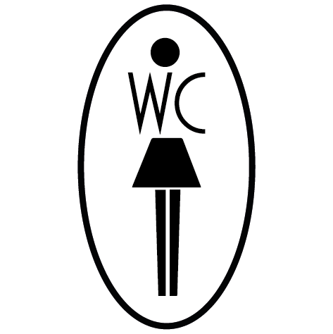 Autocollant silhouette WC Femme