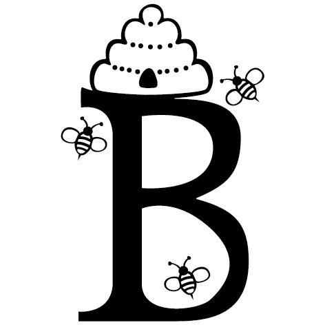 lettre adhésive B personnalisée