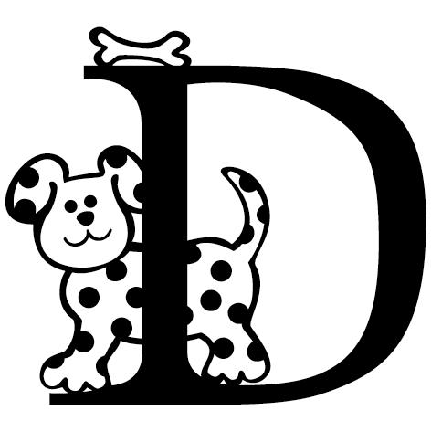 lettre adhésive D personnalisée