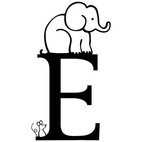 lettre adhésive mural E personnalisée