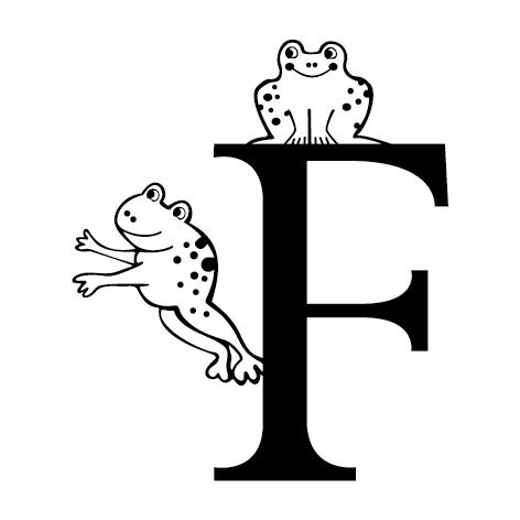 lettre adhésive F personnalisée