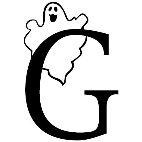 lettre adhésive G personnalisée