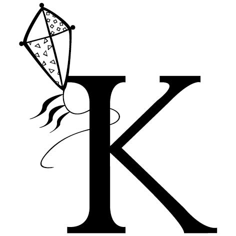 lettre adhésive K personnalisée