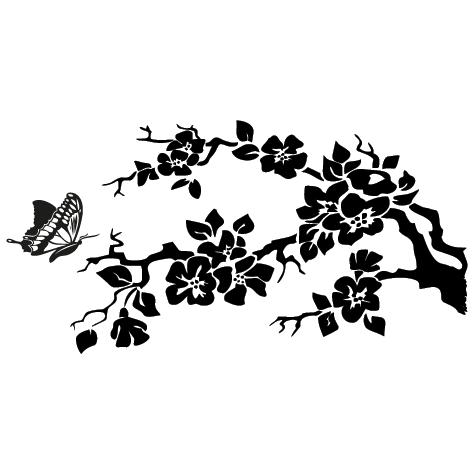 Sticker arbre papillon