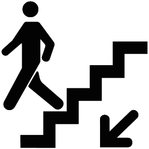 Autocollant descente escalier : 2