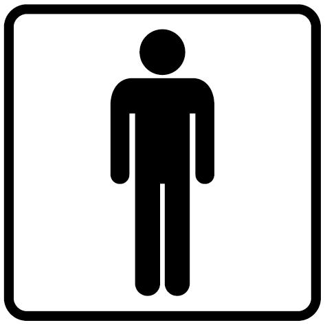 Autocollant WC hommes