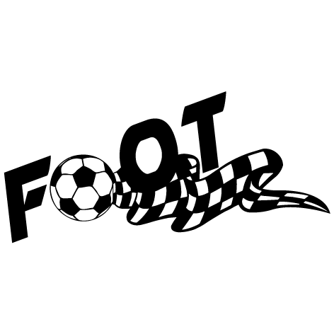 Sticker ballon de foot damier