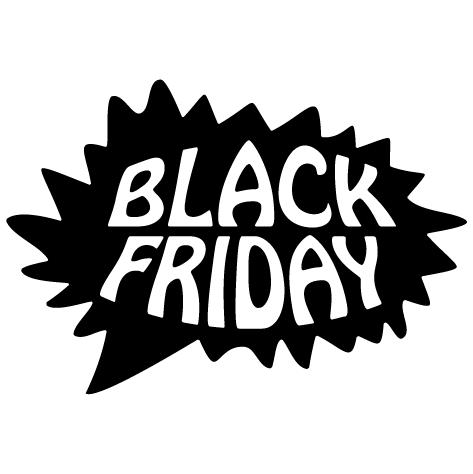 Sticker bulle Black Friday
