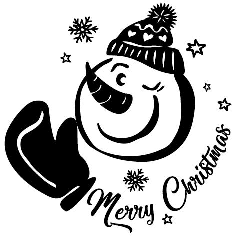 Sticker bonhomme de neige : 1