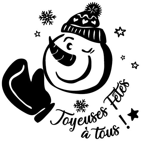 Sticker bonhomme de neige : 2