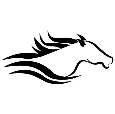 Buste cheval de course