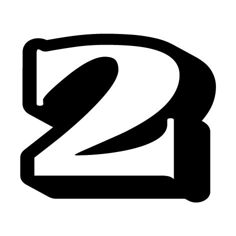 chiffre 2 aspect 3D