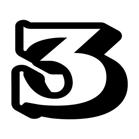 chiffre 3 aspect 3D