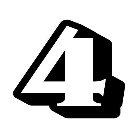 chiffre 4 aspect 3D
