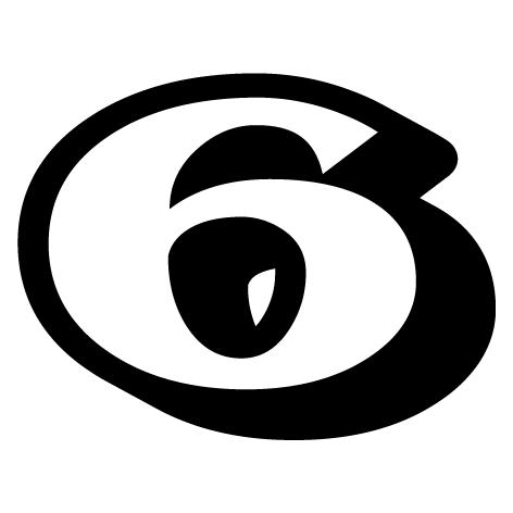 chiffre 6 aspect 3D