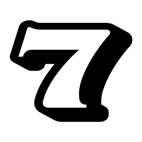 Chiffre 7 aspect 3d ultra r sistant petits prix lettres adh sives 26 - Chiffre en carton 3d ...