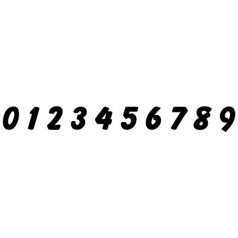 chiffres adhesifs Balloon
