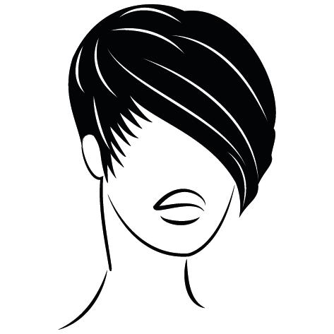 Coiffure tête de Femme